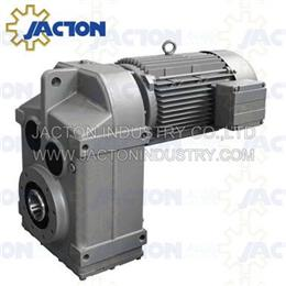 F127 FA127 FF127 parallel helical bevel gear reducer motor with brake