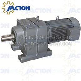 R107 RF107 RZ107 helical bevel solid shaft trasmission geared motors