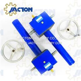 100 kN manual jackscrews 300mm length manually screw jacks 9 1 ratio