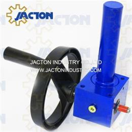 10 kN hand crank worm gear lifter 3 inch length manual lifting jack