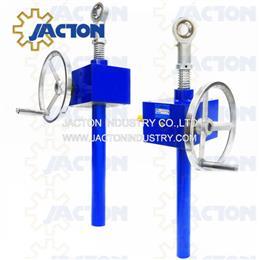 screw jack crank 50 kN 10 in stroke manual gear wheel screw jacks