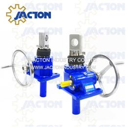 5 ton manual screw jacks 6 1 ratio 12 inch wheel handle gear jack