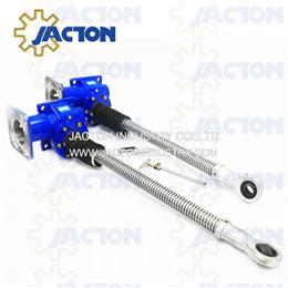 10 ton electric motor flange type driven screw jack 1300mm stroke 24 1