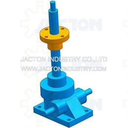 upright 2 ton lead screw nut gear jack 193mm 3d cad model