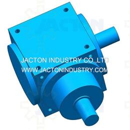 JTP140 right angle bevel gear reducer with two shafts 3d cad model