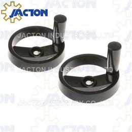 Aluminum 2 Spoke Handwheel with Folding Handle - Manual Screw Jack