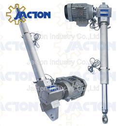 7-12KN screw type electric actuator, gear motor 1 ton actuator