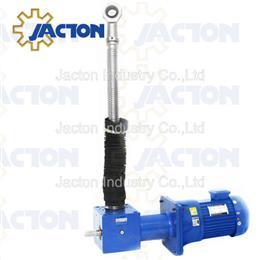 Gear motor electric screw jack actuators with rod ends - Jacton