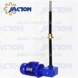Motorized travel nut rotating screw lift jack - Jacton Industry