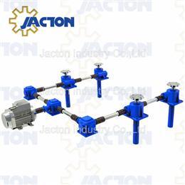 Screw jack translating screw in multi-unit jacking system - Jacton