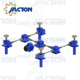 Axially translating screw jack gear drive lifting systems - Jacton