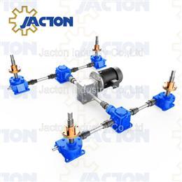 Upright traveling nut machine screw jack lift system - Jacton Industry
