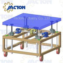Travelling acme screw jack lifting platform - Jacton Industry