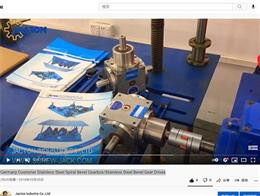 Stainless Steel Spiral Bevel Gearbox Video